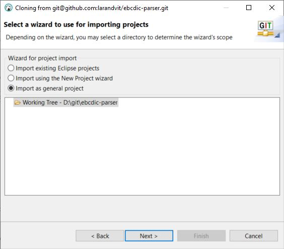 DBeaver Import Wizard Importing Projects