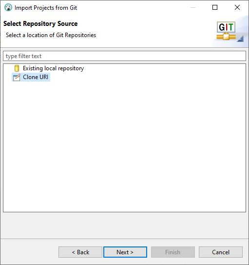 DBeaver Import Wizard Select Repository Source
