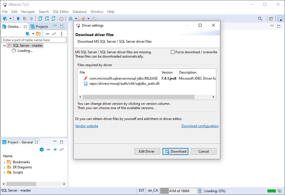 DBeaver Download Driver Files