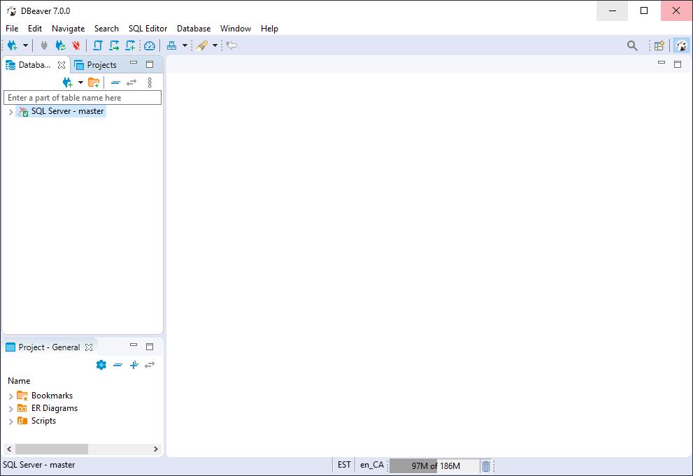 DBeaver MS SQL Server Connection Established