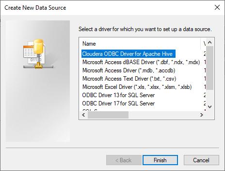 Create New ODBC Data Source
