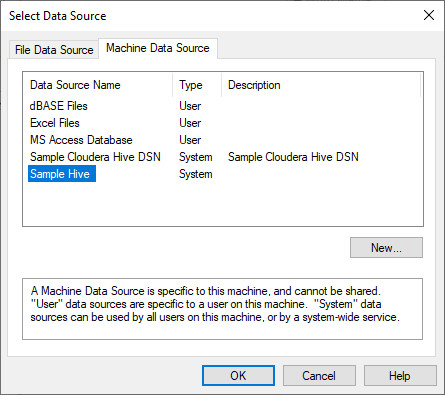 Select data source
