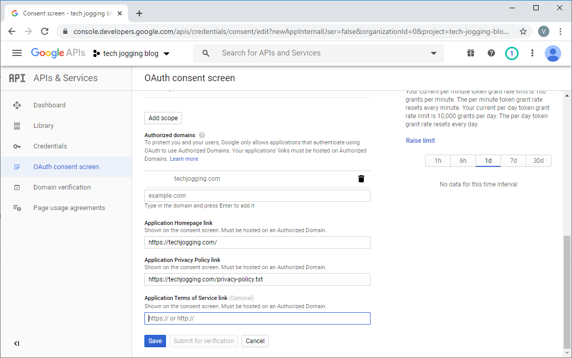 Google OAuth Consent Form