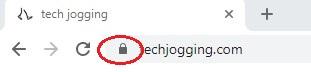 Chrome padlock icon