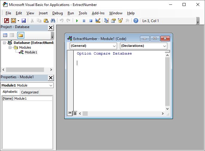 Microsoft Access created module