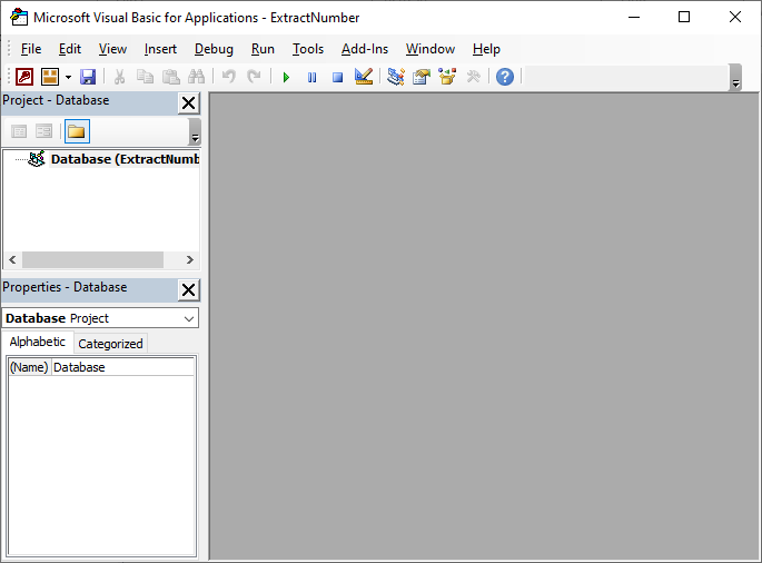 Microsoft Access VBA Editor
