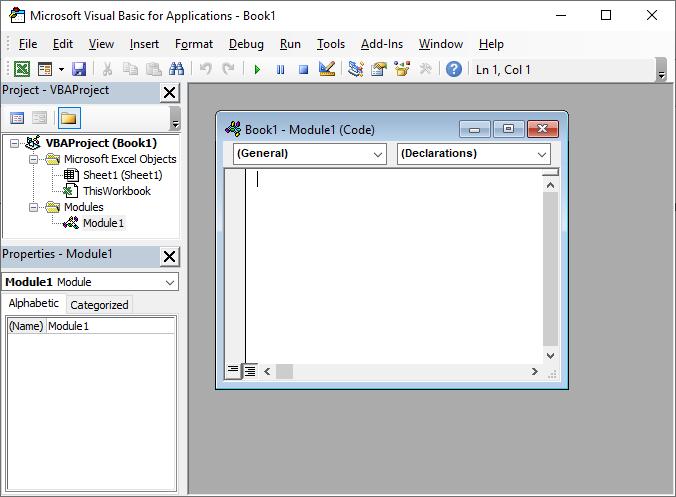 Microsoft Access created new module