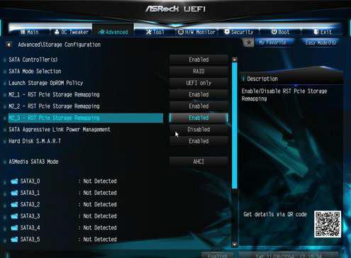 ASRock motherboard create Raid