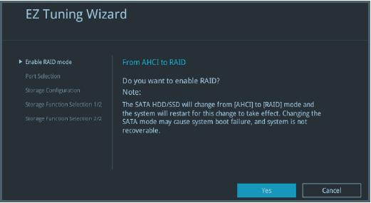 ASUS motherboard EZ Tuning Wizard